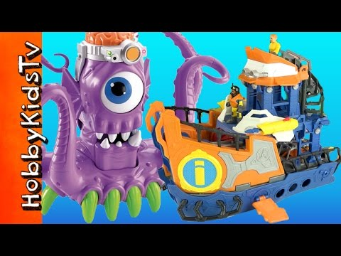 Imaginext Deep Sea Mission Boat Review with a Toy Squid Alien