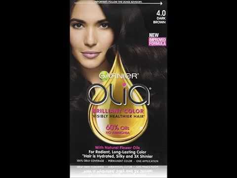 Garnier Olia Oil Powered Permanent Hair Color, 4 0 Dark Brown Packaging May Vary
