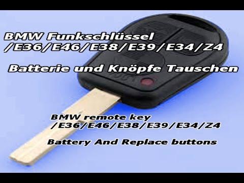 BMW Funkschlüssel E36/E46/E38/E39/E34/Z4 Batterie Tauschen