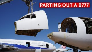 Cutting and Scrapping a B777 – Inside The Airplane Graveyard