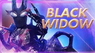 The Masked Singer Black Widow All Performances and Reveal | Season 2