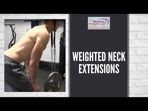 Weighted neck extensions: Technique video