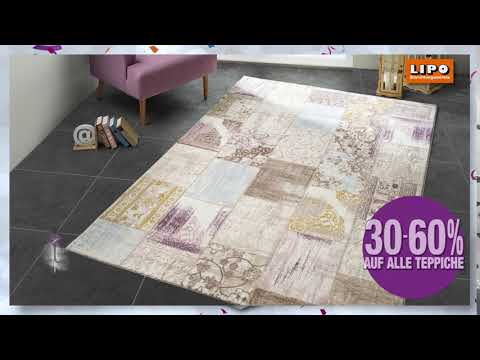 30-60% auf alle Teppiche bei LIPO