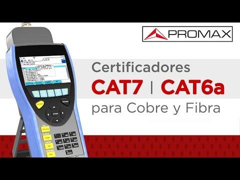 Certificadores de cableado estructurado CAT7 y CAT6A