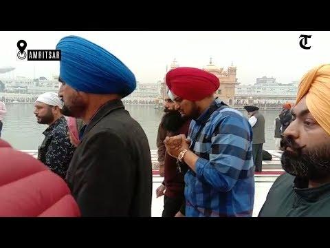 Punjabi singer Sidhu Moosewala pays obeisance at Golden Temple in Amritsar