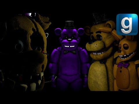 Gmod FNAF | Purple Guy Uses The Fredbear Suit - Xman 723