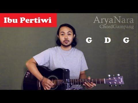 Chord Gampang (IBU PERTIWI) Arya Nara (Tutorial Gitar) Untuk Pemula
