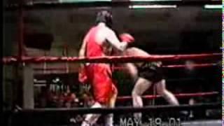 Вячеслав Дацик  боксирует на любительском ринге 1