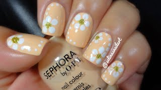Quick & Easy Flower Nail Art Tutorial | Selinas Nail Art