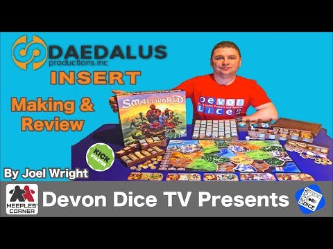 Making and Review of Deadalus Insert for Small World by Devon Dice