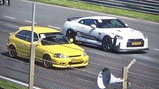 Turbo Civic -vs- 1000hp GT-R & more!