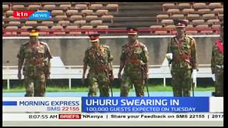 Security beefed up at Kasarani Stadium in preparation of Uhuru's swearing in