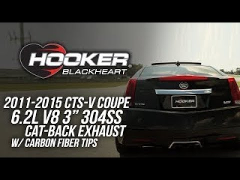 2011-2015 CTS-V Coupe 6.2L V8 - Hooker Blackheart Cat Back Exhaust System 705013163RHKR