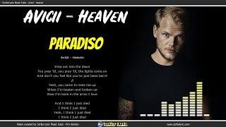 Avicii   Heaven   Lyrics  Video Lyric  Testo E Traduzione In Italiano