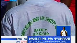 COTU yaongoza maandamano ya wahudumu wa nyumbani jijini Nairobi
