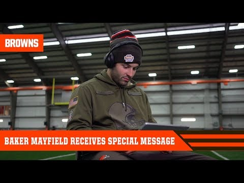 Baker Receives Special Message from Fan   Cleveland Browns