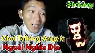 Lamtv - Thử Thách Chơi Talking Angela Vào 3 Giờ Sáng Ngoài Nghĩa Địa | Talking Angela 3am
