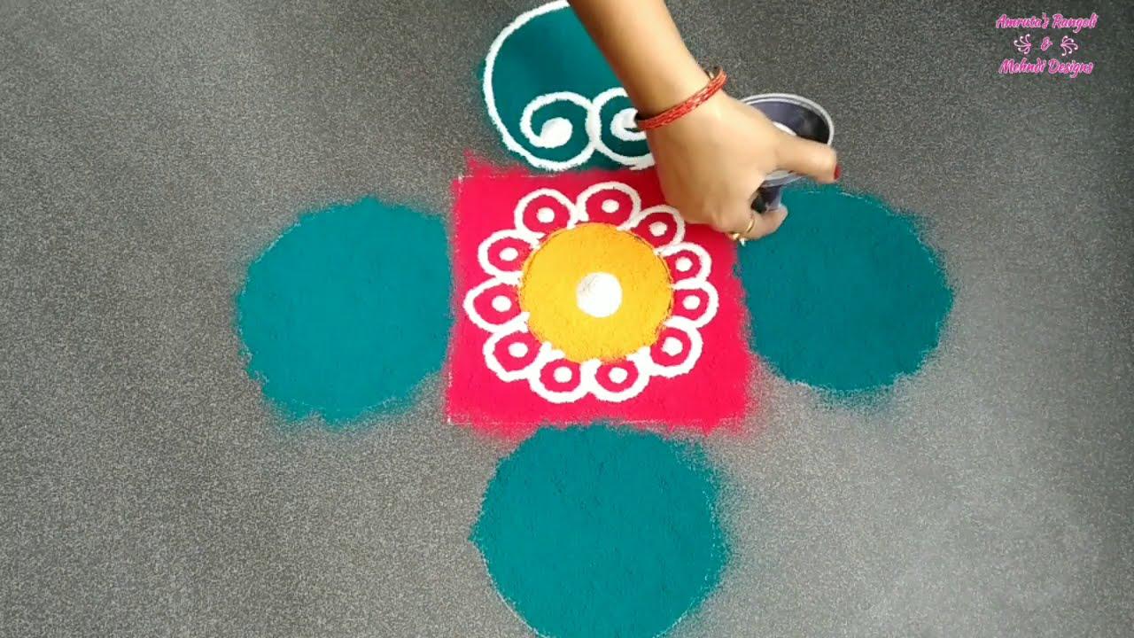 easy sanskar bharti rangoli in two minutes by amruta