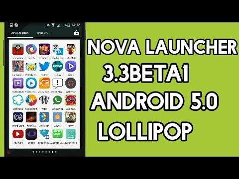 Nova Launcher 3.3beta1 APK-Android 5.0 Lollipop Personalización