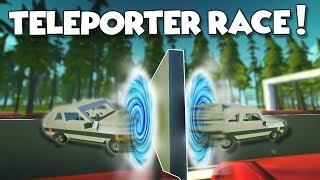 TELEPORTER RACE! Blinking Through Walls - Scrap Mechanic Multiplayer Monday Challenge