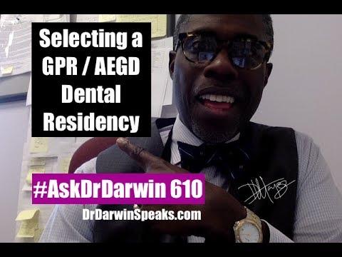 Strategies on Selecting a GPR / AEGD Residency Program | Dr