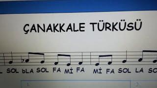 18 Mart Çanakkale Zaferi Türküsü Blok Flüt Notası Solfej Melodika Solo Gitar Piyano Aykut öğretmen
