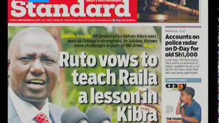 Ruto vows to teach Raila Odinga a lesson in Kibra