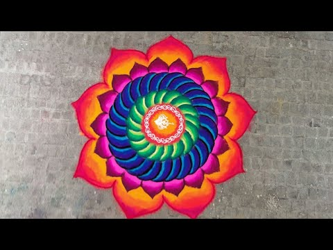 sanskar bharti rangoli design for festivals by ganesh vedpathak