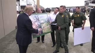 President Trump Reviews Border Wall Prototypes in California