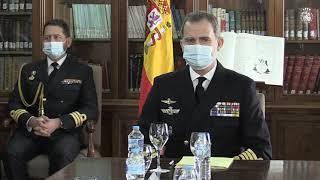 Visita de S.M. el Rey al Instituto Hidrográfico de la Marina