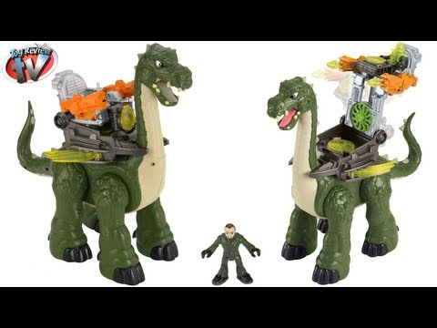 Imaginext Dinosaurs Mega Apatosaurus Jurassic Toy Review Unboxing Fisher-Price Toys Mp3