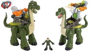 Gambar cover Imaginext Dinosaurs Mega Apatosaurus Jurassic Toy Review Unboxing Fisher-Price Toys