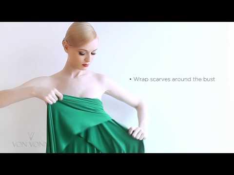 How To Tie The Von Vonni Transformer Dress Strapless Style