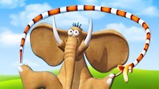 Гимнастика в Джунглях | Мультики для детей на русском | Газун звериные приключения