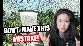 My HUGE mistake at JEWEL CHANGI | Exploring SINGAPORE'S CHANGI AIRPORT TERMINALS 2019