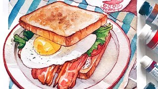 BREAKFAST - HUNGRY Watercolor Series -