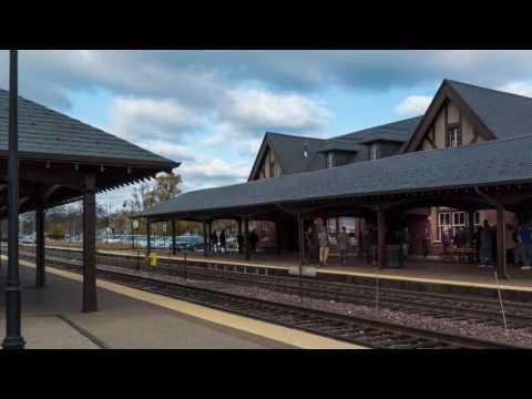 East Lake Forest Train Station Tour, Nov 2016