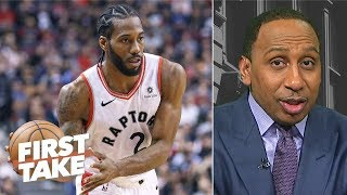 Kawhi Leonard needs to step up for Raptors to make NBA Finals - Stephen A. | First Take
