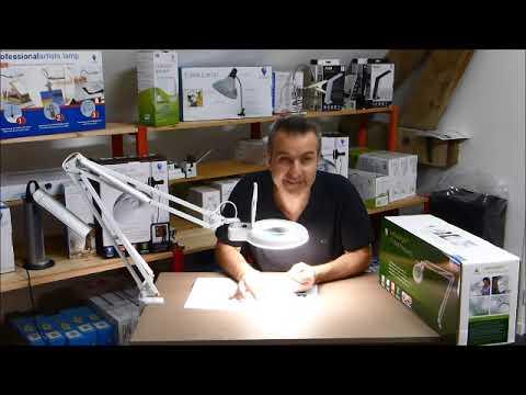 Test et présentation de matériel pour l'Atelier : Daylight Lampe loupe bras articulé