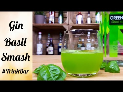 Gin Basil Smash - Cocktail selber machen - Rezept - Trinkbar