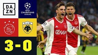 Doppelpack Von Nicolas Tagliafico: Ajax Amsterdam - AEK Athen 3:0 | UEFA CL | DAZN Highlights