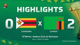 Qualif. CAN 2021   Groupe H : Zimbabwe 0-2 Zambie