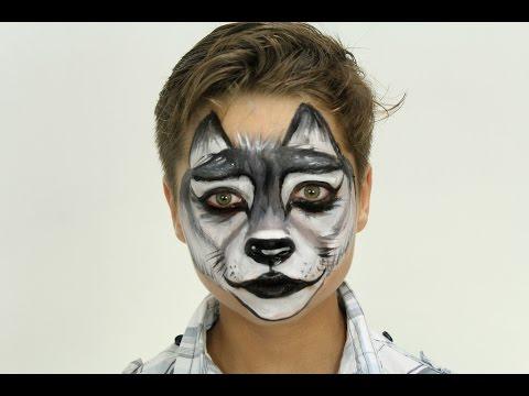 Pinta Caritas: Lobo - Face Painting: Wolf || #Biromsmakeup