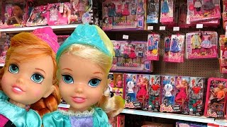 TOY HUNT with Elsa and Anna toddlers ! Shopkins Season 6 and more !