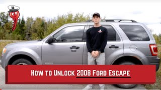 How to Unlock: 2008 Ford Escape (without key)