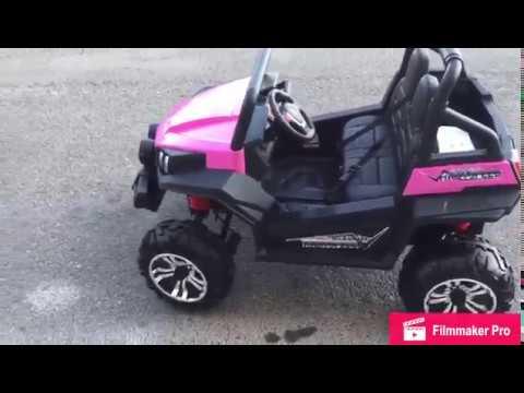 Coche electrico infantil 24V RSX rosa con mando control remoto