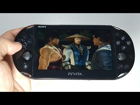 Mortal Kombat PS Vita Slim handheld gameplay