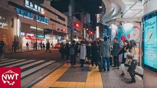 大阪キタの中心地、夜の梅田を街ブラ-4KUHD