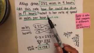 Word Problem - Unit Rate and Proportion to Solve for Equivalent Ratios