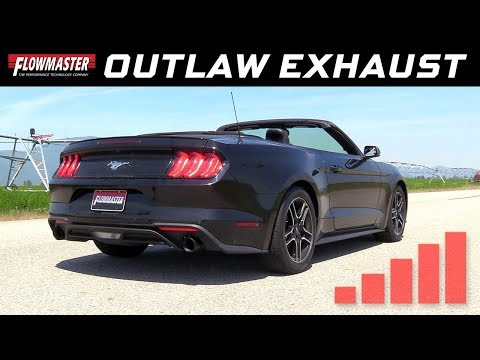 2015-20 Ford Mustang 2.3L Ecoboost, 3.7L - Outlaw Axle-back Exhaust System 817823